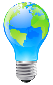 World Globe Light Bulb Concept